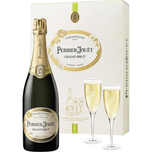 Perrier-Joeut Grand Brut  with Gift Box and two Glasses 75.cl