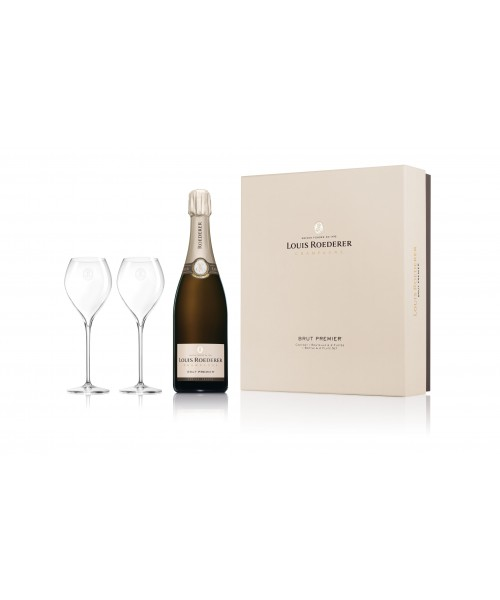 Louis Roederer Brut Premier with Gift Box and two glasses 0.75 cl
