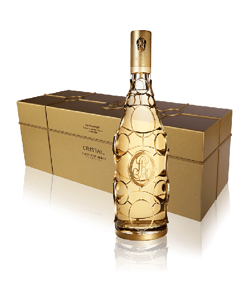 Louis Roederer Cristal Gold Caged Limited Edition 2002 Jéroboam